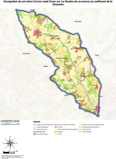 Carte d'occupation du sol de la Nouère